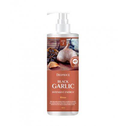 Бальзам для волос с экстрактом чёрного чеснока Deoproce Rinse Black Garlic Intensive Energy, 1000мл