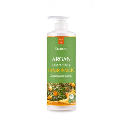 Маска для волос с аргановым маслом Deoproce Argan Silky Moisture Hair Pack, 1000мл