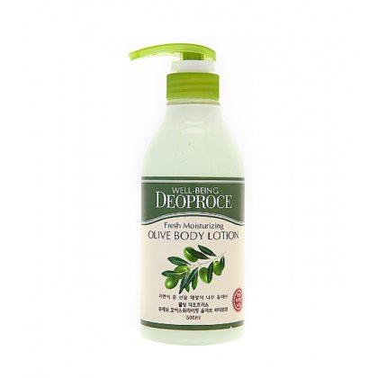 Лосьон для тела с экстрактом оливы Deoproce Well-Being Fresh Moisturizing Olive Body Lotion, 500мл