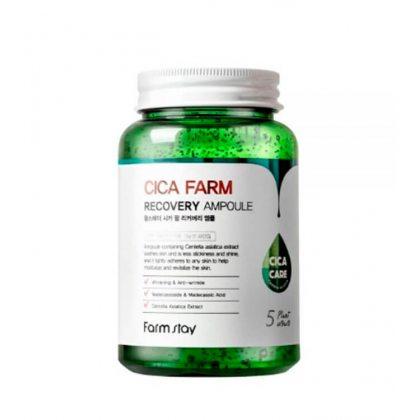 Многофункциональная ампульная сыворотка с центеллой азиатской Farmstay Cica Farm Recovery Ampoule, 250мл