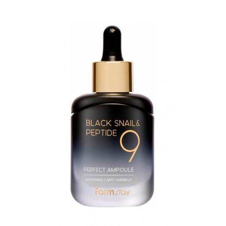 Омолаживающая ампульная сыворотка с комплексом из 9 пептидов FarmStay Black Snail & Peptide9 Perfect Ampoule, 35мл