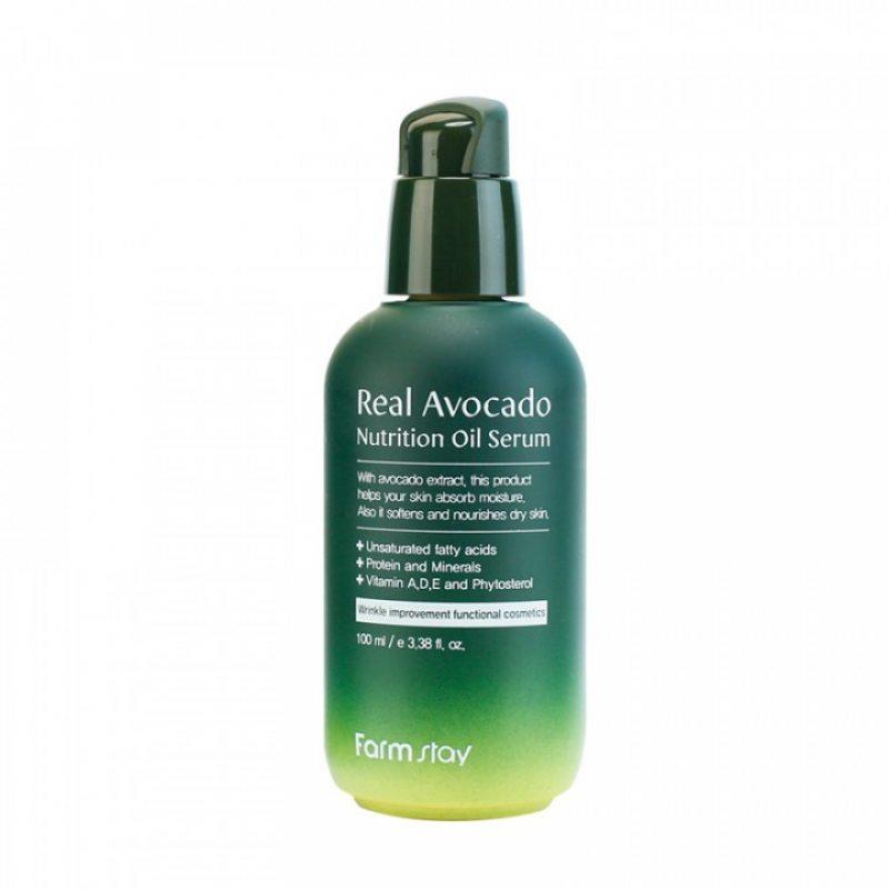 Сыворотка питательная с маслом авокадо FarmStay Real Avocado Nutrition Oil Serum, 100мл