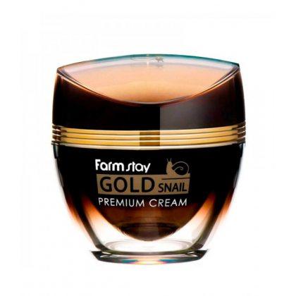 Крем премиальный с экстрактом золота и улиточным муцином FarmStay Gold Snail Premium Cream, 50мл