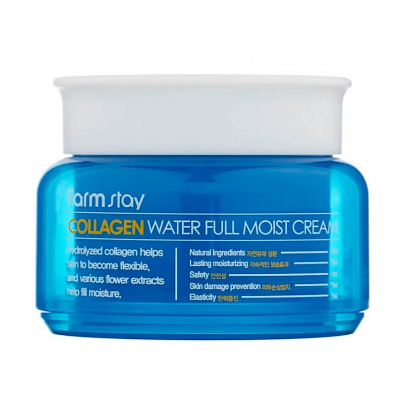 Крем увлажняющий с коллагеном FarmStay Collagen Water Full Moist Cream, 100мл